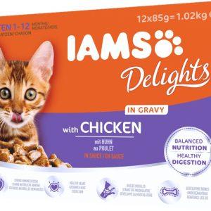Iams with Chicken Kitten 12x85g