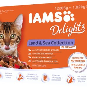 Iams Land and Sea collection in gravy 12x85g