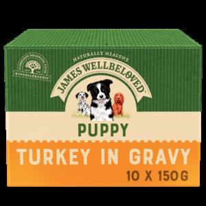 JW Turkey Puppy Pouch 10x150g