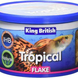 Kind British tropical FLAKE fish food