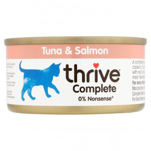 Thrive tuna and salomon cat food