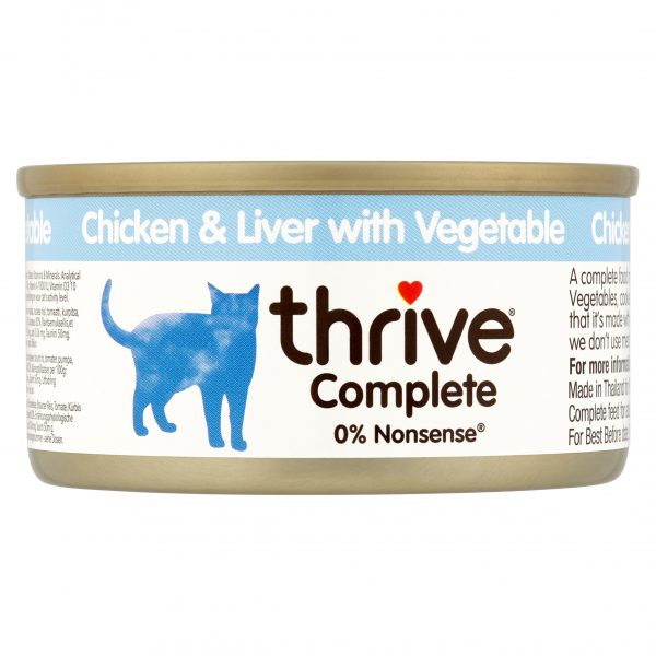 Thrive Chicken and Liver with Vegetables cat food