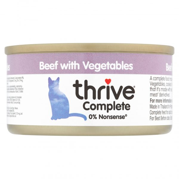 Thrive Beef with vegetables cat food