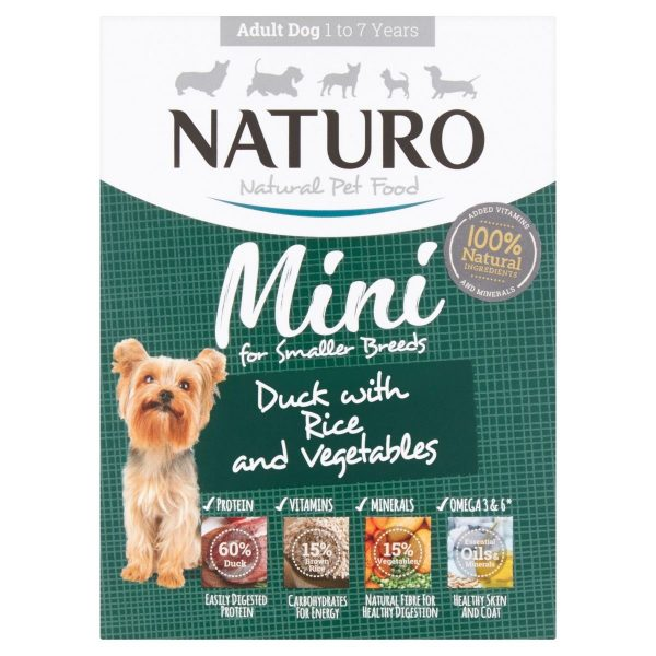Naturo Mini Duck with Rice and Vegetables Adult dog food
