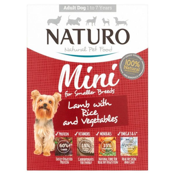 Naturo Mini Lamb with rice and vegetables adult dog food