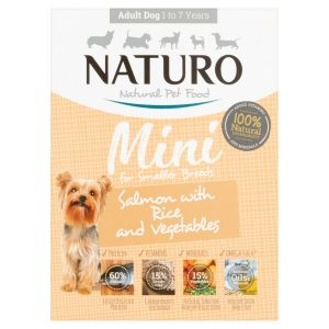 Naturo Mini Dog Salmon with Rice and Vegetables Adult dog food
