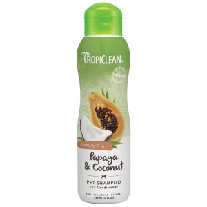 Tropiclean Papaya Coconut 2 In 1 Pet Shampoo