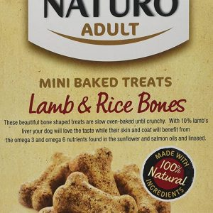 Naturo Baked Dog Treats Lamb & Rice Bones