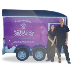 Paws Paradise Mobile Dog Grooming Logo
