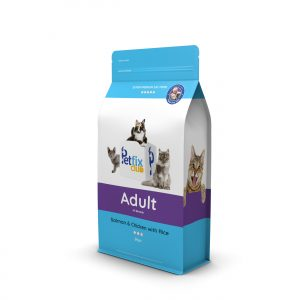 Petfix club cat food with salmon, chicken and rice