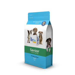 Petfix Senior dog food turkey and rice