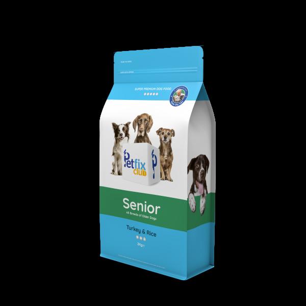 Petfix Senior dog food turkey and rice