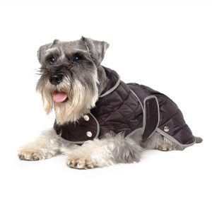 Ancol Quilted Dog Coat Black