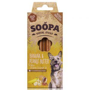 SOOPA Dog Dental Sticks Banana and Peanut Butter