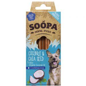 SOOPA Dog Dental Sticks Coconut and Chia Seed