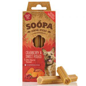 SOOPA Dog Dental Sticks Cranberry and Sweet Potato