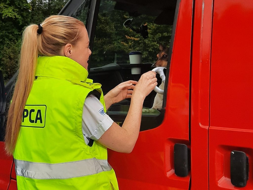 image from ISPCA red van