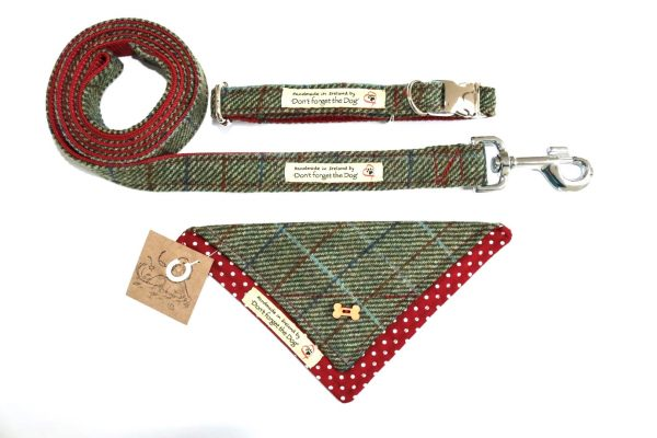 don't forget the dog 3 piece tweed set