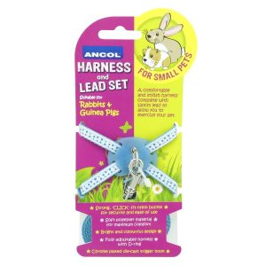 RABBIT HARNESS and LEAD SET BLUE