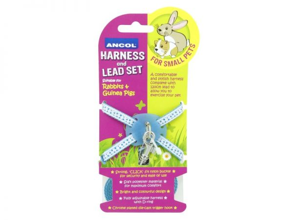 ANCOL Harness and Lead Set for small pets BLUE
