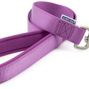 Ancol Padded Nylon Dog Lead 1M x 19mm Purple, M