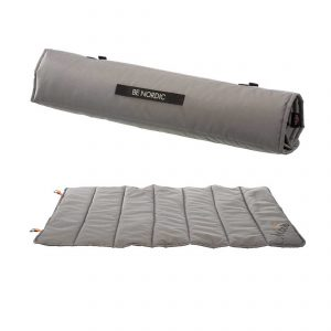 grey roll up travel blanket for dogs