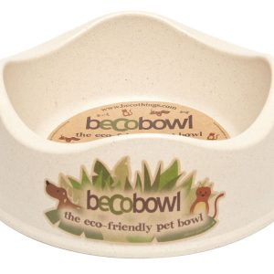 BECO Bamboo dog bowl Natural