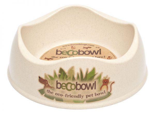 BECO Bamboo dog bowl Natural