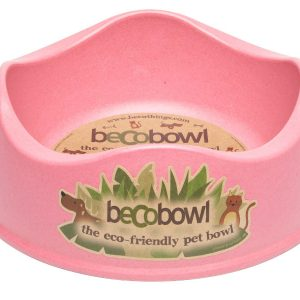 BECO Bamboo dog bowl Pink