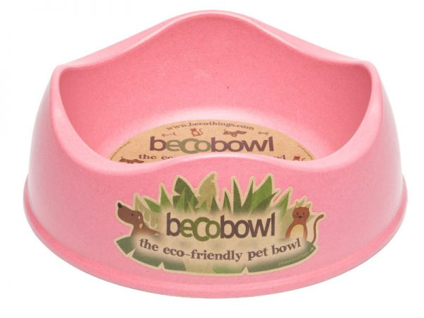 BECO Bamboo dog bowl Pink