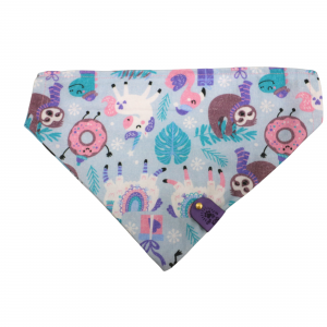 one of a kind bandana sloth and unicorn