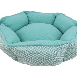 Resploot Teal Snakeskin Hexagonal Bed