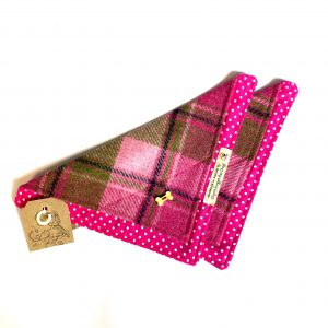 Pink Tweed Dog Bandana