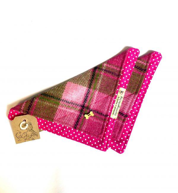 Pink Tweed Dog Bandana