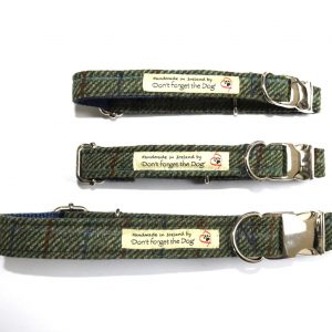 don't forget the dog luxury tweed dog collar