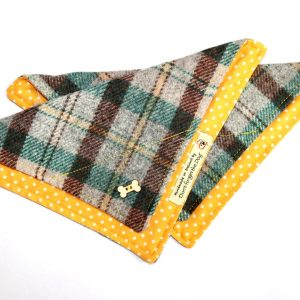 don't forget the dog yellow tweed bandana
