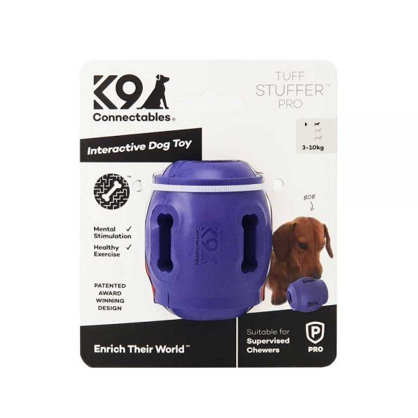 K9Connectables Tuff Stuffer purple