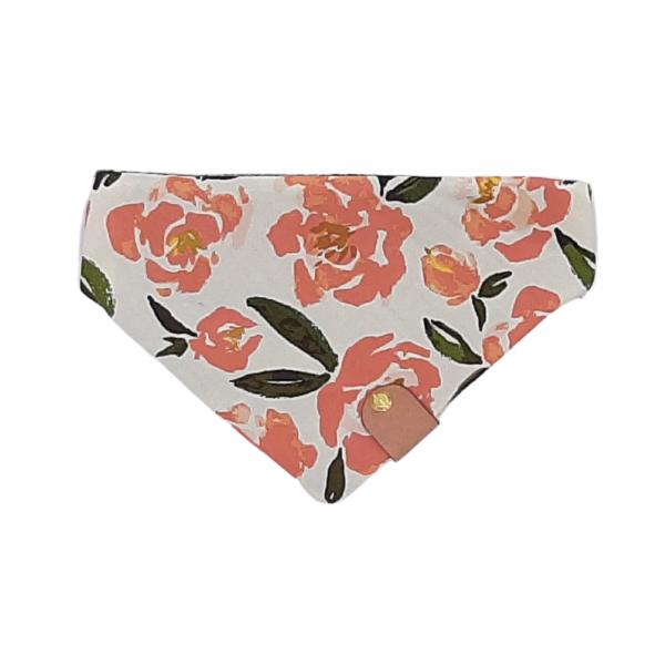 One of a Kind Reversible Bandana floral print dog bandana