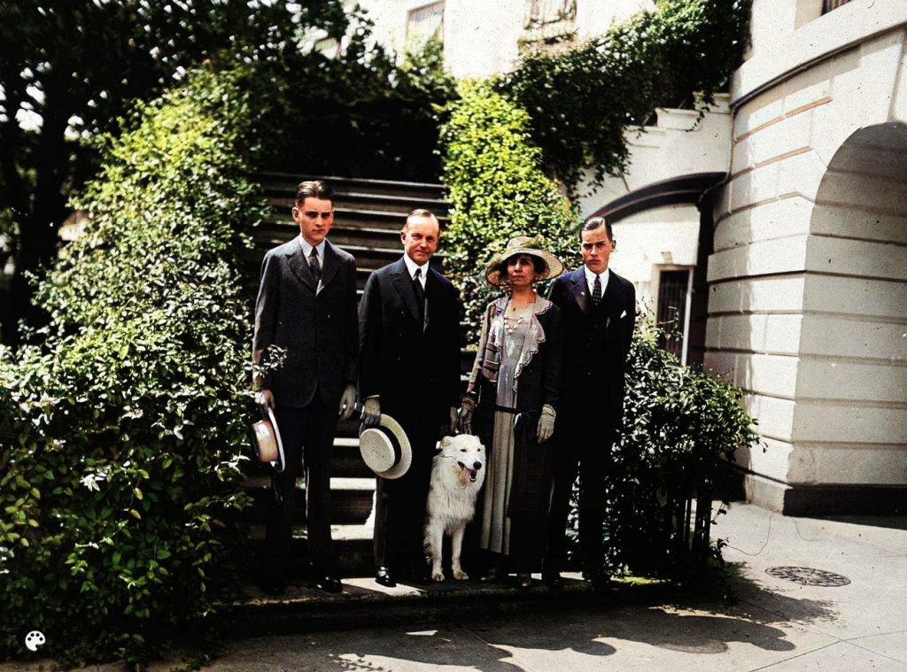 calvin coolidge and dog