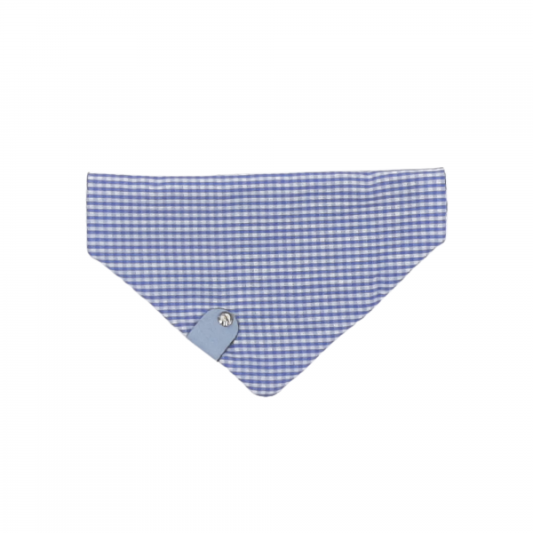 One of a Kind blue check reversible bandana