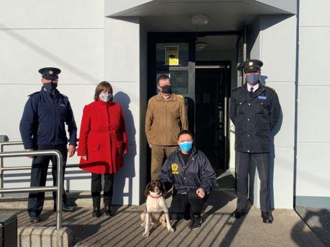 cork dog found in UK with Garda