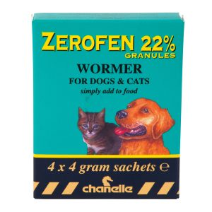 Zerofen wormer for cats and dogs