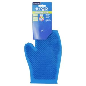 Ancol Ergo Blue Rubber Grooming Glove