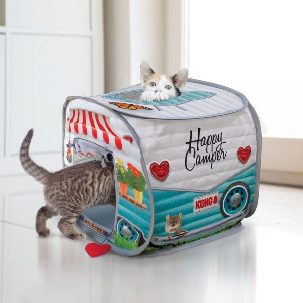 KONG cat in happy camper play toy