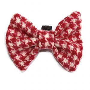 red and white bowtie for dogs