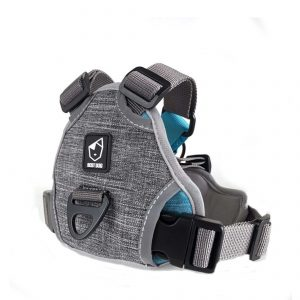 best dog inline dog harness in colour light grey