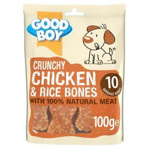 Good Boy Pawsley & Co Crunchy Chicken & Rice Bones 100g
