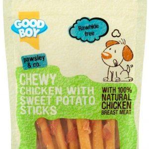Good Boy Meaty Treaty Chewy Chicken & Sweet Potato Sticks Dog Treats