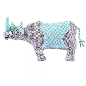 Resploot Black Rhino Dog Toy