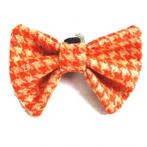 Orange Tweed Dicky Bow